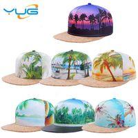 Wholesale Types Hats Hip Hop - 3D printing patterns sports cap baseball cap type men and women fashion street back hat fashion hip-hop variety of styles