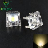 Wholesale Flux Car - Wholesale- IEKOV 20 LED 5MM Warm white Piranha Super Flux Leds 4 pin Dome Wide Angle Super Bright Light Lamp For Car Light High Quality