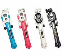 Wholesale iphone monopods - Selfie stick Tripods bluetooth timer selfie monopods Extendable Self Portrait Stick remote for Android Iphone smartphone MOQ