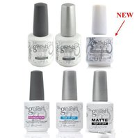 Wholesale Clear Top Coat Polish - Harmony Gelish Nail Polish STRUCTURE GEL Soak Off Clear Nail Gel TOP it off and Foundation Led UV Gel Polish frence nails Top coat Base coat