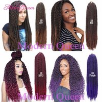 Wholesale 3d Crochet - 3D TM Cubic Twist Crochet Braids Afri Naptural TM Split Synthetic Ombre Havana Mambo Senegalese Freetress Braiding Twist Hair Extensions