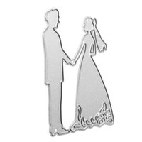 Wholesale Paper Embossing Tools - Wholesale- Steel Bride Groom Cutting Dies Template DIY Scrapbooking Album Embossing Stencils Wedding Paper Card Decorative Tools Gadgets