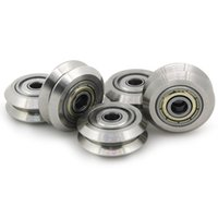 Wholesale 3d Printer Aluminum - Stainless Steel Metal Double V-type Pulley Wheel Gear with Bearings Aluminum Extrusion Line for 3D Printer( Pack of 5pcs)