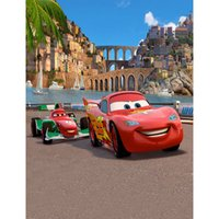 Auto Story Cartoon Backdrops pour la photographie Cute Red Cars Children Kids Playground Studio Photo Shoot Background