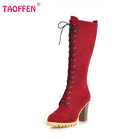 Wholesale Leather Ladies Riding Boots - Wholesale- Women High Heel Over Knee Boots Ladies Riding Fashion Long Snow Boot Warm Winter Botas Heels Footwear Shoes P2413 Size 34-40