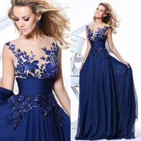 Wholesale Sexy Corset Chiffon Dresses Women - Fashion Royal Corset Chiffon Evening Dresses 2017 Elegant Party Sheer Neck Long Sexy Red Carpet Formal Prom Gowns For Women Wear
