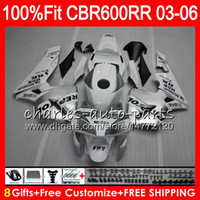 Wholesale Ninja Fairing Zx9r - 8Gifts 23Colors Injection For HONDA CBR 600 RR Repsol silver CBR600RR 03 04 05 06 43HM10 CBR 600RR F5 CBR600F5 CBR600 RR 2003 2004 Fairing