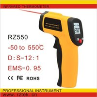 Wholesale Digital Guns - Hand held laser temperature measuring gun Digital infrared thermometer Non contact thermometer GM550 -50 to 550 degrees atp205