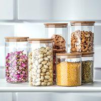 Wholesale Sugar Glass Jars - Glass Jars For Storage Container For Cereals Tea Coffee Sugar Storage Jars Mason Jars Lids Kitchen Storage Cans Pots