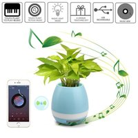 Wholesale Time Speaker For Mobile - 2017 bluetooth Smart Music Flower pots intelligent real plant touch play flowerpot colorful light long time play bass speaker Night light