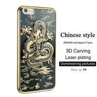 Wholesale Individual lovers Chinese wind Chinese Dragon iPhone plus plus case inch mobile phone case shell silicone protective sleeve