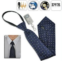 Wholesale Dvr Spycam - Remote control 16GB built-in Body Worn Hidden Cameras Mini tie Camera Video USB DVR Recording Hidden SpyCam NEW Necktie 8GB USB Drive PQ103