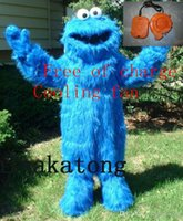 Wholesale Mascot Costumes Halloween Sesame Street - Long Plush Sesame Street theme COOKIE MONSTER Mascot Costume for Halloween christmas Party Costume Character Outfit Fancy dress