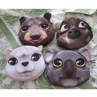Wholesale Alpaca Bag - Wholesale- DUDINI 3D Print Animal Alpaca Makeup Bag Koala Zipper Coin Purse Wallet Money Pouch Penguin Small Handbag