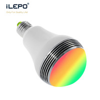 Wholesale Changing Outdoor Light Bulbs - Smart Bulb Wireless Bluetooth Audio Mini Charger Speakers LED RGB Light Music LED Bulb Lamp Color Changing via App Control