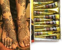 Wholesale indian body art for sale - Group buy Black Natural Indian Henna Tattoo Paste for Body Drawing Black Henna Tattoos Body Art Painting High Quality g