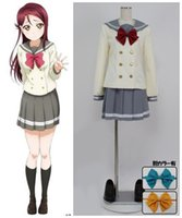 Wholesale sailor woman costume online - LoveLive Sunshine Aqours sailor suits autumn uniform cosplay halloween costumes