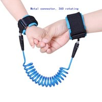 Wholesale ship safety harness resale online - 1 M Kids anti lost strap rotating Baby Safety Harness Wrist Link Strap Rope with Metal connector yea Fast shipping