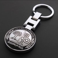 Wholesale New Metal Mercedes AMG Keychain Creative Accessories Auto Parts Car Keyring