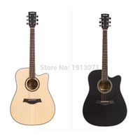 Wholesale Guitar Hot Folk - Wholesale- Hot New quality 41' cutaway guitar Acoustic Folk Guitar Durable 6-String Basswood Side&Backboard 20 frets for beginner&students