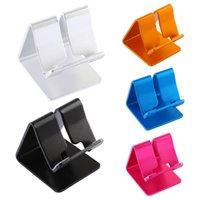tischplatten-tischständer großhandel-Aluminiumlegierung Desktop Ständer Halter Für iPhone 6 7 6 s Plus 5 S SE Tablet PC Halterung Halter Telefon Ständer Handyhalter