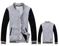 Wholesale Wholesale Long Cotton Coat Mens - Wholesale- 2016 Brand Sweatshirt Men Baseball jacket New Autumn Winter Cotton Active Stand Collar Pockets Man Coat Hoodies Mens Sweatshirts