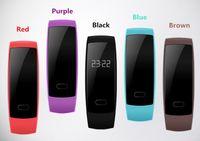 Wholesale free oximeter resale online - New QS80 heart rate oximeter pedometer waterproof health bracelet smart bracelet watch For iPhone Samsung for DHL