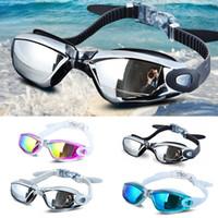 Wholesale Electroplated Goggles - Swim glasses Men Women Anti Fog UV glass Protection Swimming Goggles Professional Electroplate Waterproof Swimming glasses