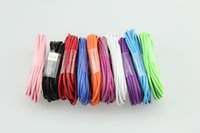 Wholesale Iphone 4s 2m Cable - Free Shipping 1M 2M 3M Colorful data sync USB Overstriking cable cord for iphone 4 4S ipad 2 3 touch High Quality 100pcs lot