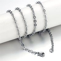 Wholesale 316 Stainless Steel Jewelry Wholesale - fashion jewelry Silver Plated chains for women 316 stainless steel necklace men and women Link jewelry wholesale