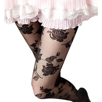 Wholesale Women See Through Pantyhose - Wholesale- Women Fashion Rose Pattern Tight Lace Pantyhose Sexy See-through Stockings