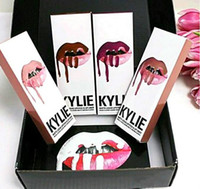 Wholesale Now Natural - kylie jenner Kylie Lip Gloss Lipstick Boxset 1 Lipstick + 1 Lipliner Kylie Jenner Matte Lipstick 8colors Avaialable now Free shipping+gift