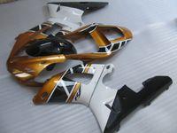 Wholesale Yamaha R1 Gold Fairings - Free 7 gifts fairing kit for Yamaha YZF R1 2000 2001 gold white black fairings set YZFR1 00 01 OT24