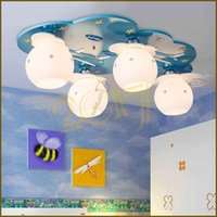 Wholesale Surface Planes - Cute Cartoon Plane Kids Room Ceiling Lights Creative Children Bedroom Ceiling Lamp Baby Room Ceiling Lamps
