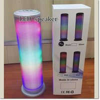 Wholesale flash player light - Stereo Hifi Bluetooth Portable Speaker 360 Colorful LED Flash Light JHW-V169 Wireless Super Bass USB TF MP3 Music Player for samsung iphone