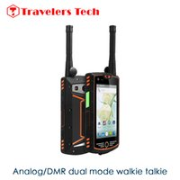 ingrosso android smartphone tv analogico-Telefono a 4 pollici analogico / DMR Walkie Talkie Alps W305 IP68 Smartphone robusto impermeabile 4G Android 3 GB di RAM Supporto 32GB ROM NFC OTG