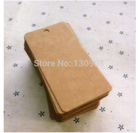 Wholesale Clothes Cards Price Tags - Wholesale- Joy Free Shipping size 4*8cm thick kraft hang tag ,clothing price label card