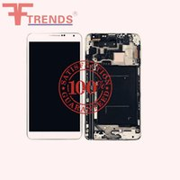 Wholesale Note Full Lcd - Original LCD Display Touch Screen Digitizer with Frame Full Assembly for Samsung Galaxy Note 3 III N900 N900V N9006 N900A N9005 Grey White
