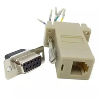 Wholesale Rs232 Db9 Female - 500PCS lot rs232 DB9 Female to RJ45 Female RS232 Modular Adapter Free Shipping