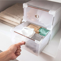 Wholesale Transparent Shoe Box Organizers - Shoe Storage simple semi-transparent thickening plastic shoebox, dust proof storage box