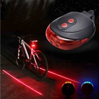 Wholesale bicycle safety accessories resale online - LED Bicycle Rear Lights LED Laser Tail Light Safety Warning Bicycle Bike Light Night Mountain Lamp Waterproof Bike Laser Accessories