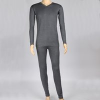 Wholesale thermal underwear wholesalers - Men's Thermal Underwear Suits Keep Warm High Quality Heating Fiber Comfortable Winter Undergarment XL XXL XXXL