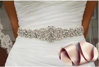 Wholesale Elastic Belts For Dresses - Crystal sashes for wedding, Wedding Bridal Belt, Braided Rhinestone Sash Party Prom Evening Dresses Wedding Dress Belt