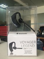 Wholesale Earhook Earphones - V8 Voyager Bluetooth Headset Handfree Bluetooth V4.0 Earhook Voice Control HeadPhone for Iphone 7 Samsung S7 Legend Wirless Earphone