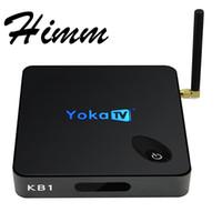 Wholesale Mini Tv Tuner Bluetooth - 100% Original KB1 Smaer Android 6.0 TV Box Amlogic S905X Quad Core 2.4G + 5.8G Dual Band WiFi Bluetooth 4.0 Mini PC TV Box