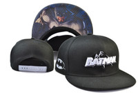 Wholesale Dc Comics Hats Batman - Dc Comics Batman Snapbacks Fashion Cartoon Snapback Outdoor Caps Hats Men Women Summer Beach Sun Hat Cool Party Cap