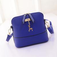 Wholesale Cheap Wholesale Fashion Handbag - Wholesale-Brand new Women Messenger Bags 2015 cheap Vintage Small Shell Leather Handbag Casual bolsa feminina Bag