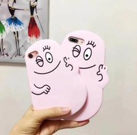 Wholesale Iphone Blink - 3D Cute cartoon Blink eyes Les Barbapapa Soft Silicone cell phone case cover for iPhone 8 7Plus 6 6s 7 plus