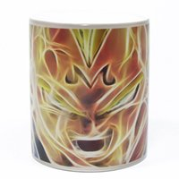 Wholesale Dbz Balls - Wholesale- Free Shipping 1Piece DRAGON BALL Z VEGETA Heat Reveal Mug DBZ Heat Reactive Cup Color Changing Ceramic Coffee Mug