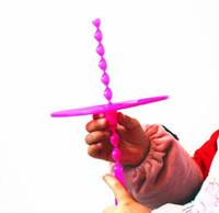 mão helicóptero brinquedo venda por atacado-Helicóptero Voando Brinquedos Mão Empurre Disco Voador E Frisbee Mão Rotação Brinquedos Ao Ar Livre para o Dia das Crianças Crianças Ao Ar Livre Jogar